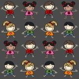 Mixed ethnic children background.  Royalty Free Stock Photo