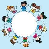 Mixed ethnic children Royalty Free Stock Photos