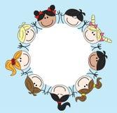 Mixed ethnic children Stock Images