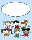 Mixed ethnic children Royalty Free Stock Photo