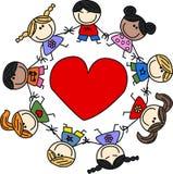 Mixed ethnic happy children Royalty Free Stock Photography