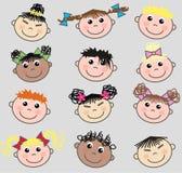 Mixed ethnic kids Stock Photos