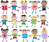 Mixed ethnic kids Stock Images