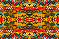 Mixed Ethnic Pattern. Seamless geometric ethnic pattern. Abstract tribal pattern in vivid colors. Fancy multicolored background ornament. Traditional culture Stock Photo