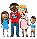 Mixed ethnicity family Royalty Free Stock Photos