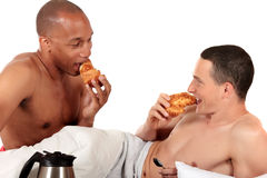 Mixed ethnicity gay couple Stock Photo