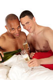 Mixed ethnicity  gay couple Royalty Free Stock Images