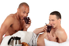 Mixed ethnicity gay couple Stock Photography