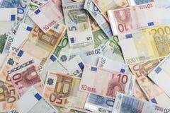 Mixed euros Royalty Free Stock Image