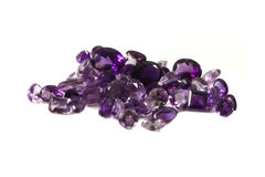 Mixed facets of amethyst Stock Image