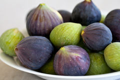 Mixed figs. Greens and purple Royalty Free Stock Image