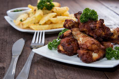 Mixed Fingerfood on wood Royalty Free Stock Photo
