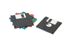 Mixed floppy disks Royalty Free Stock Image