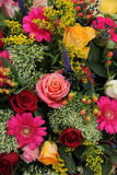 Mixed flower arrangement in bright colors Royalty Free Stock Photo