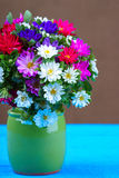 Mixed Flower Bouquet in vase Stock Photo