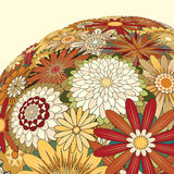 Mixed flowers. Editable  illustration of a large bunch of mixed flowers Royalty Free Stock Photo