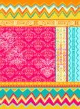 Mixed Folkloric Design Vector Illustration. Mixed Geometric Folkloric Design Vector Illustration eps stock illustration