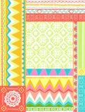 Mixed Folkloric Design Vector Illustration. Mixed Geometric Folkloric Design Vector Illustration eps Royalty Free Stock Photo