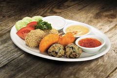 Mixed food platter royalty free stock images