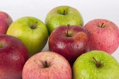 Mixed Fresh Apples Stock Photo