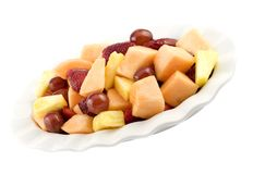 Mixed Fresh Fruit in Dish Royalty Free Stock Photos
