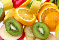 Mixed of fresh fruits Royalty Free Stock Photography
