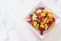 Mixed fresh fruits (strawberry, raspberry, blueberry, kiwi, mang Royalty Free Stock Photography