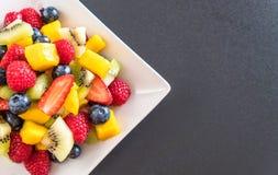 Mixed fresh fruits (strawberry, raspberry, blueberry, kiwi, mang Royalty Free Stock Photo