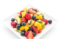 Mixed fresh fruits (strawberry, raspberry, blueberry, kiwi, mang Stock Photo