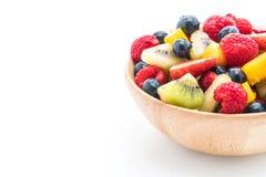 Mixed fresh fruits strawberry, raspberry, blueberry, kiwi, mang Royalty Free Stock Images