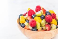 Mixed fresh fruits (strawberry, raspberry, blueberry, kiwi, mang Royalty Free Stock Images