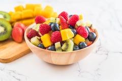 Mixed fresh fruits (strawberry, raspberry, blueberry, kiwi, mang Stock Photography