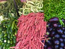 Mixed Fresh green  vegetables Royalty Free Stock Photography