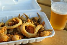 Mixed fried fish with shrimp squid and cuttlefish Stock Image