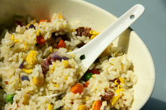 Mixed fried rice Royalty Free Stock Photos