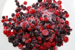 Mixed Frozen Berries Royalty Free Stock Images