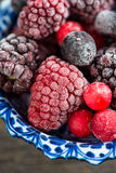 Mixed frozen berries fruits Royalty Free Stock Photos