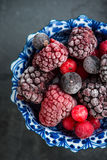 Mixed frozen berries fruits Stock Images