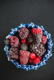 Mixed frozen berries fruits Stock Photo