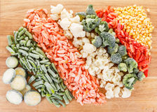 Mixed frozen vegetables background Royalty Free Stock Images