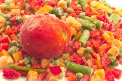 Mixed frozen vegetables close up Stock Photography