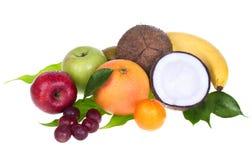 Mixed fruit. On white background stock image