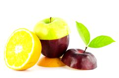 Mixed Fruit. On white background Stock Photography
