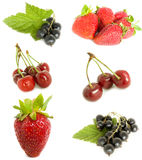Mixed fruit. Collection on a white background Stock Photo