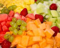 Mixed fruit background Stock Image