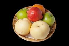 Mixed Fruit ,   on black background. Mixed Fruit , Oranges, apples, pomegranates , on black background Stock Photos