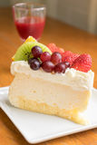 Mixed fruit cheese cake Stock Images