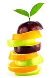 Mixed Fruit condo. On white background Royalty Free Stock Image