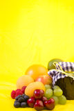 Mixed fruit with homemade jam Royalty Free Stock Images
