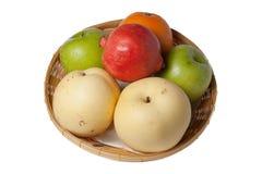 Mixed Fruit ,  isolated on white background. Mixed Fruit , Oranges, apples, pomegranates isolated on white background Royalty Free Stock Photo